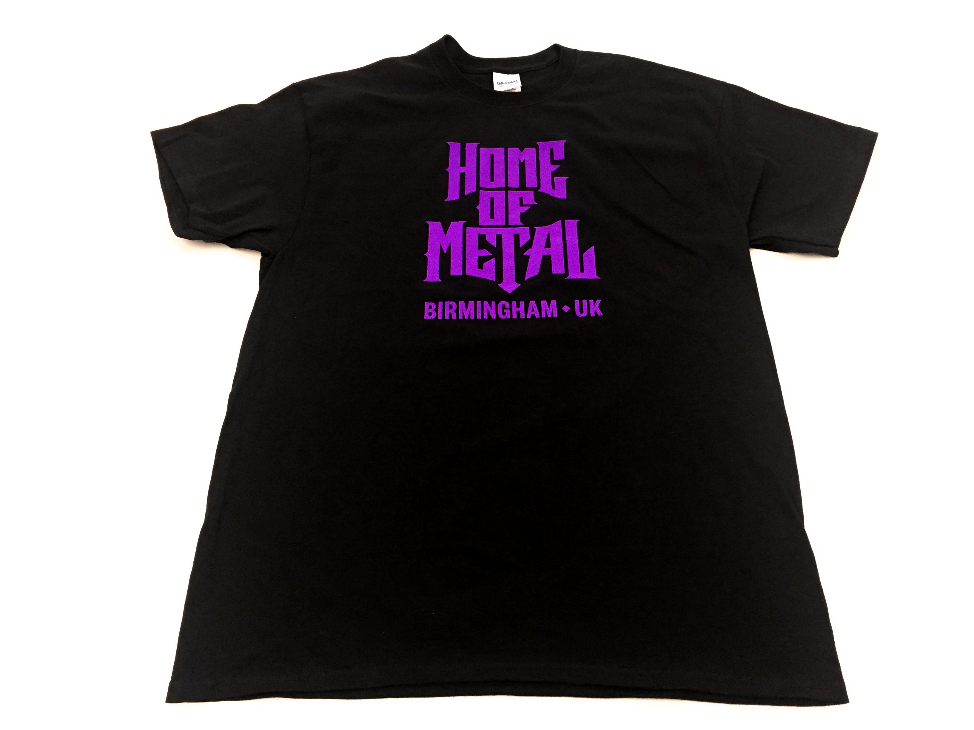 Home of Metal T - purple print