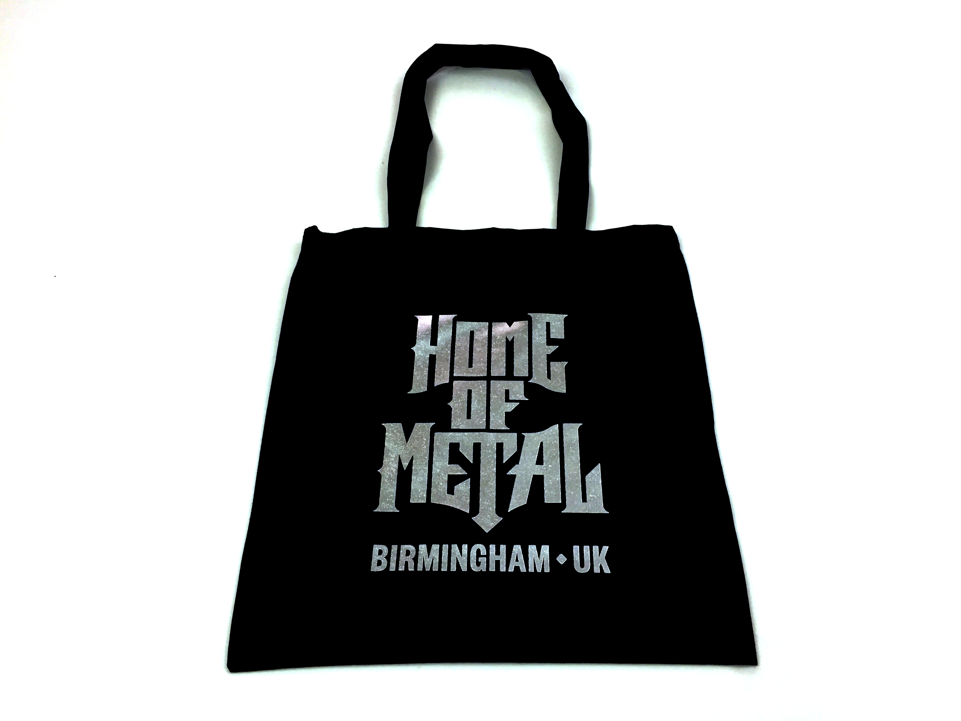Home of metal tote bag - black