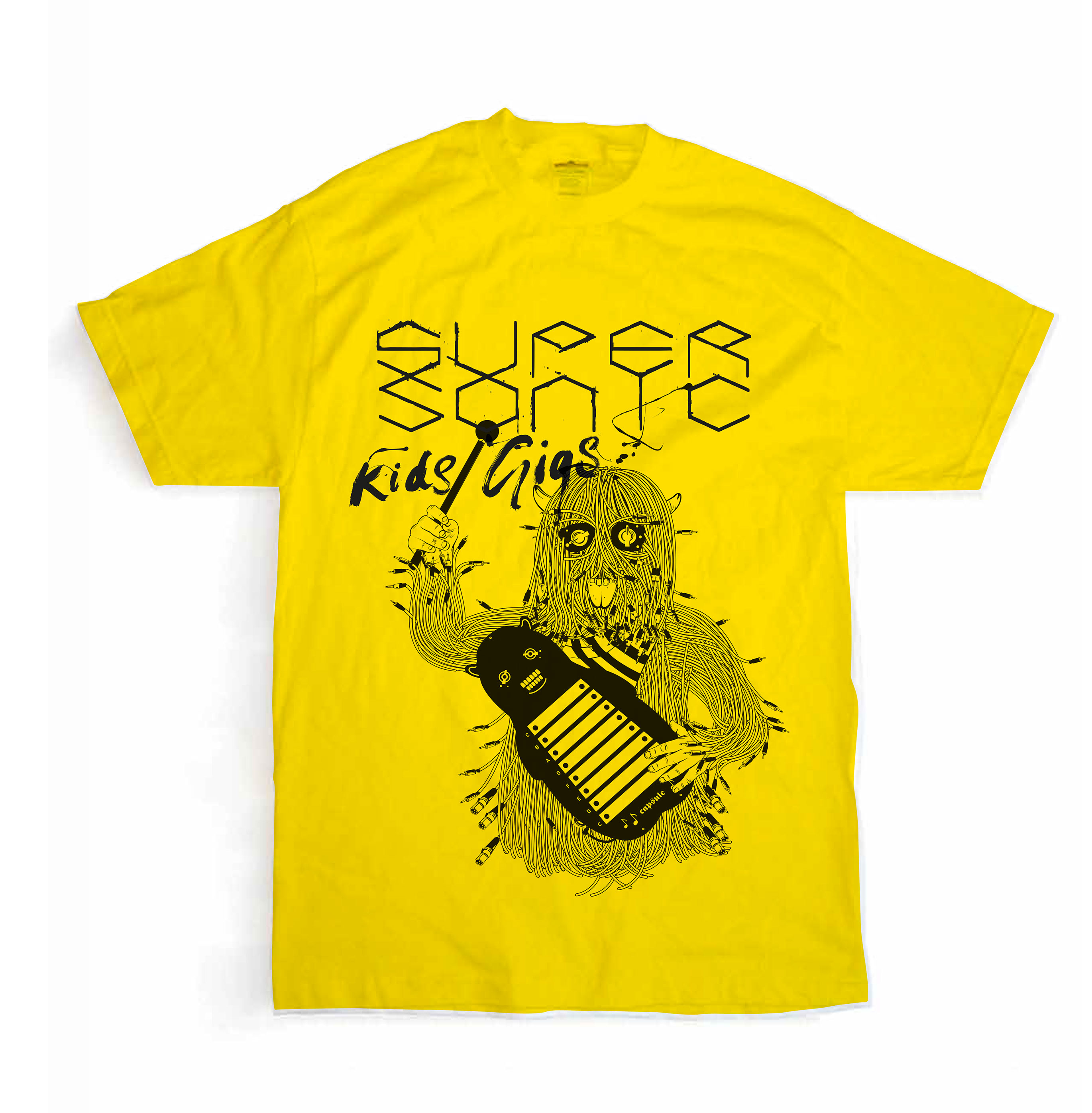 Supersonic Kids Gig T - yellow