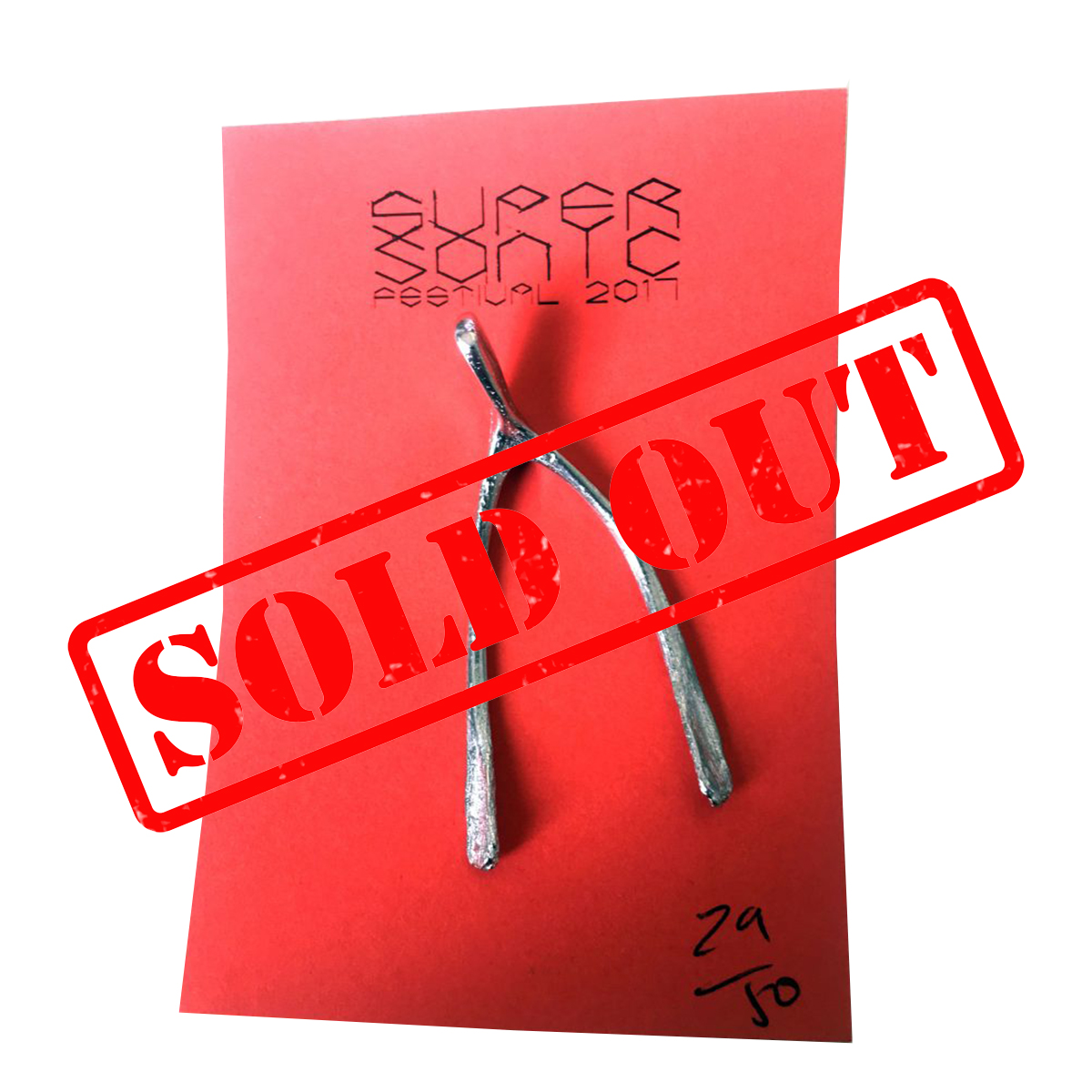 2017 Supersonic Festival brooch