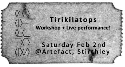 Supersonic presents an evening with Tirikilatops
