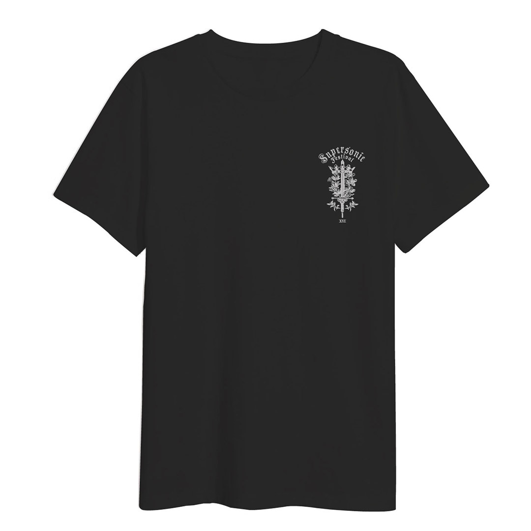 We Will Rise Again - Black T  - Silver front/back print